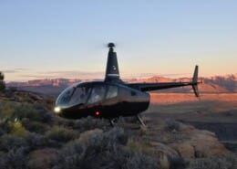 Helicopter Tours of Zion private mesa landing